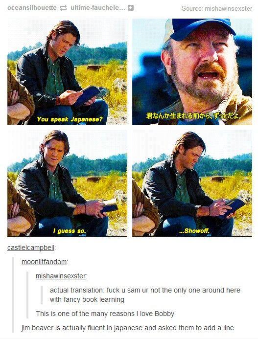<3 Bobby <3 #Supernatural #Sam #Bobby << you go Jim beaver
