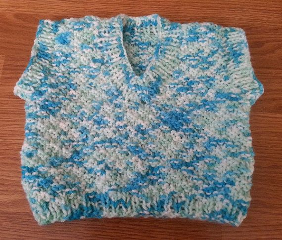 Boy's Knitted Vest by CountryCrafts4You on Etsy