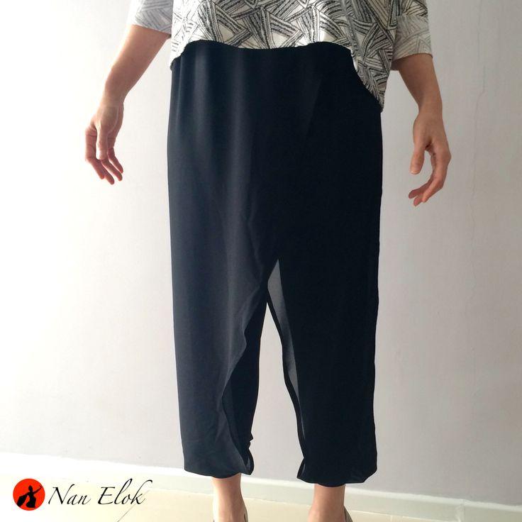 Nirmala - Layer Legging Pants IDR309.000 / USD35   Waist: 76 - 95cm, Hips: 96cm, Length: 85cm   Available in Black & Dark Blue