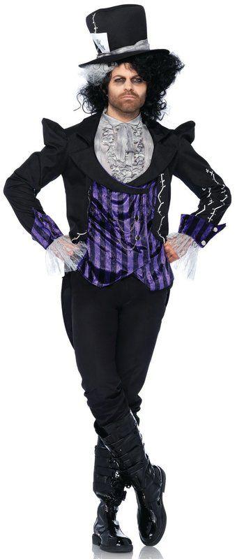 Dark Mad Hatter Costume Adult Costume