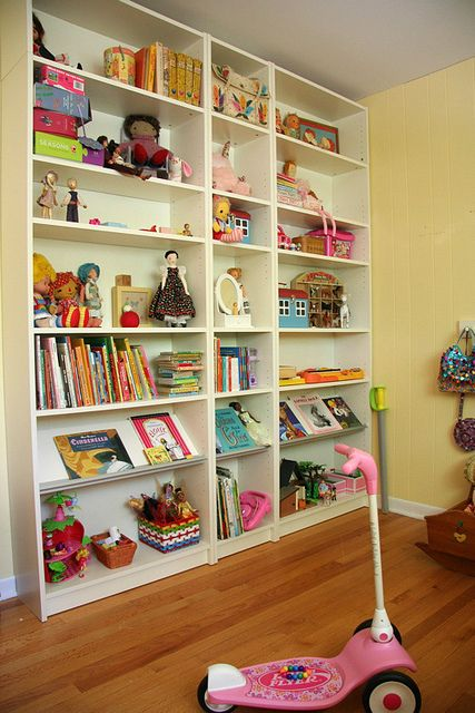 """Billy bookcases for all thier """"precious"""" stuff"""
