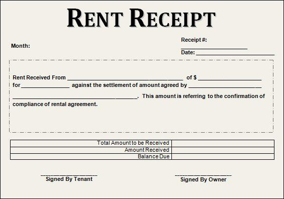 Free Rent Receipt Template Beautiful 21 Rent Receipt Templates Receipt Template Receipt Rent