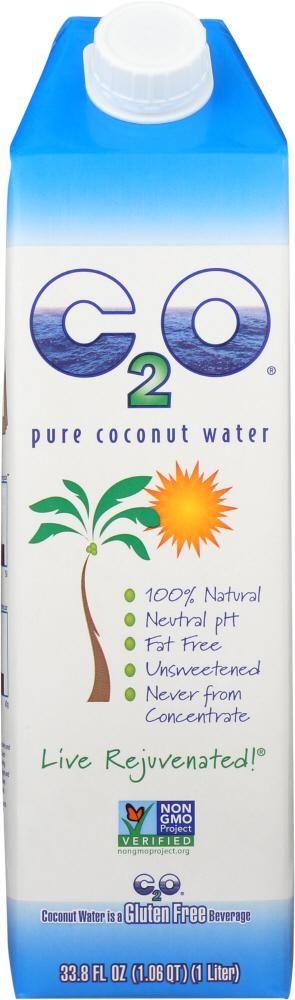 C2O: Pure Coconut Water, 33.8 oz