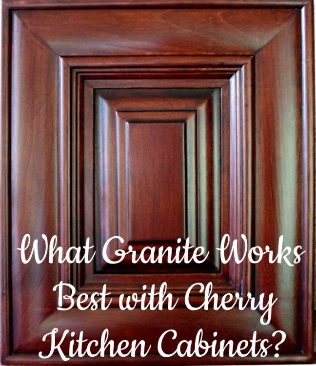 Best Granite Countertops for Cherry Cabinets | The Decorologist