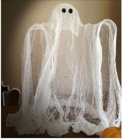 Fun Cheesecloth Ghost  – perfect for Halloween Time, Spooky! Also Craft Store Coupons for Hobby Lobby, Michaels, and Jo-ann fabrics