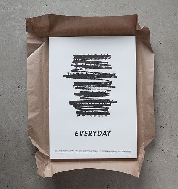 AALBIN HOLMQVIST | poster design for Gustav Johansson's short film 'EVERYDAY'