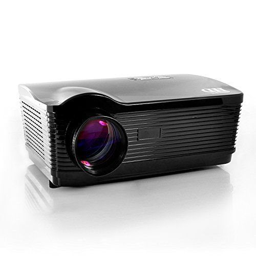 """HD LED Projector """"HD Dream"""" - 1280x768, 3000 Lumens, 2000:1. Aspect Ratio: 4:3 / 16:9 Switch Lens Adjustment: Manual Manual Keystone Correction: Vertical: +/-15 degrees Built-in Speaker: 2Wx2 Audio output Image Zoom: Electronic Horizontal/Vertical Image Zoom. Picture Rotation: H/V Noise (db): 30db (Low Noise) Power / Voltage: AC90V-240V, 50-60 Hz Power Consumption: 150W Lamp Usage Time: About 50,000 Hours Languages: English, French, Spanish, Polish, Portuguese, Russian, Italian, German..."""