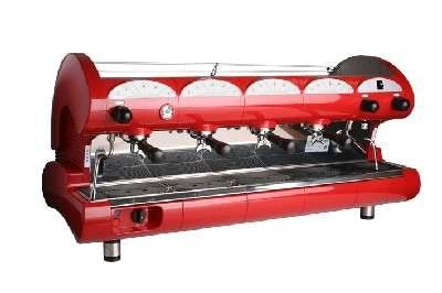 Buy New: $8,842.50: Bar Star Series Commercial 4 Group Espresso Machine in Red