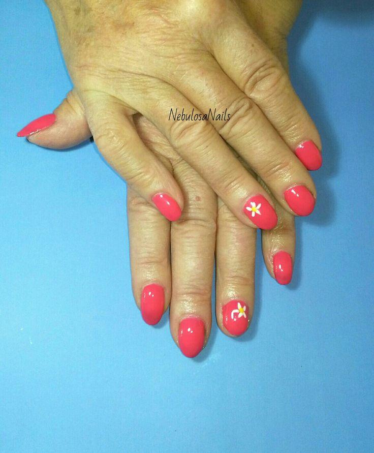 Semipermanente  #semipermanente #rosa #fiore #bianco #margherita #curadellemani #manicurate #mani #hands #bigliettodavisita #curadellemani #lospecchiodise #delicato #delicate #elegante #elegant #bellezza #cura #manicure #nails #nailart #unghianaturale #napoli #italia
