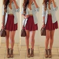 Skirt doesn't have to be that short... It's a lovely look. And great colors for you.