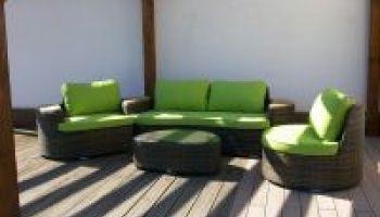 Wow - sedací souprava na zahradu i do interiéru #lehatko #dvoupohovka #kresla #stolek #zahrada