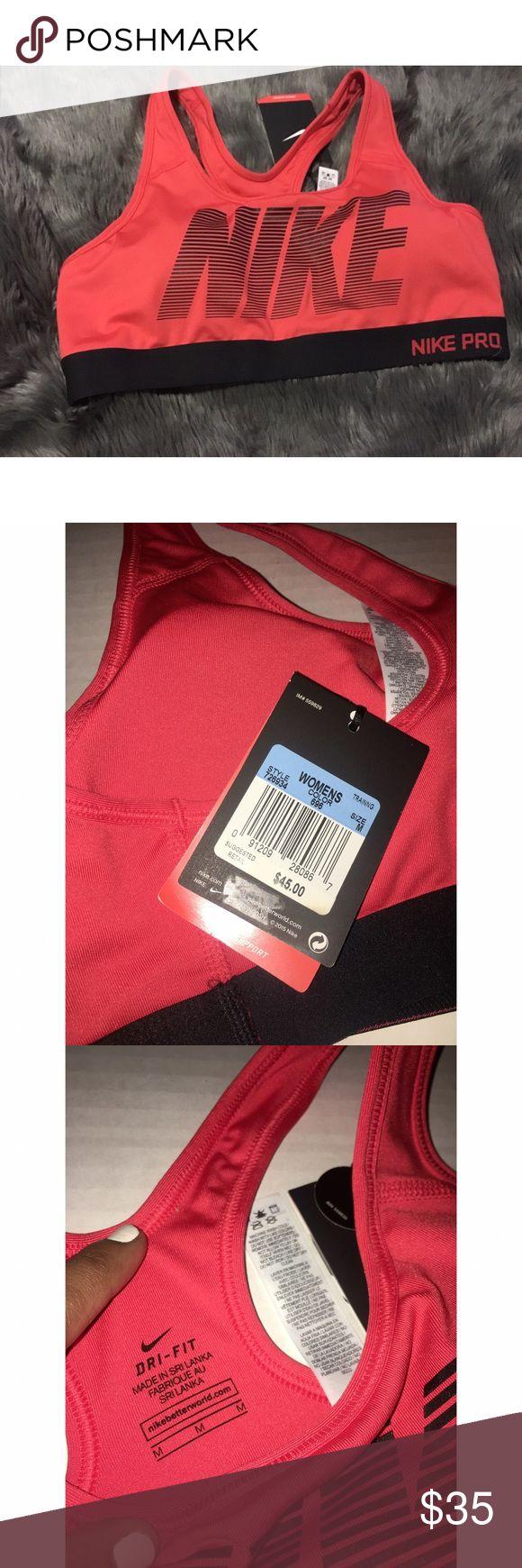 Nike sports bra BNWT• NIKE PRO women's sports bra• size M• Nike Intimates & Sleepwear Bras
