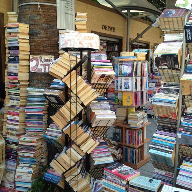 Street of books in Izmir