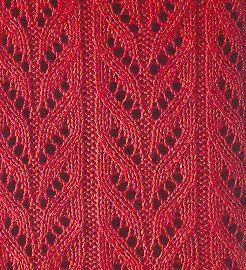 point tricot ajouré