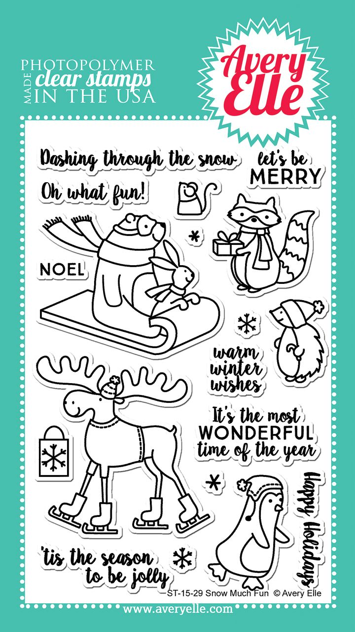 Avery Elle  - Snow Much Fun Clear Stamps, $15.00 (http://www.averyelle.com/snow-much-fun-clear-stamps/)