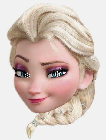 Frozen: Elsa Free Printable Masks.                                                                                                                                                                                 Más