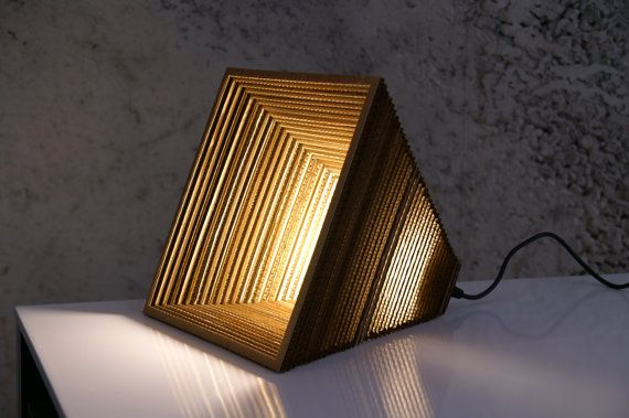 Khafre  recycled cardboard lamp by ilocreaciones on Etsy