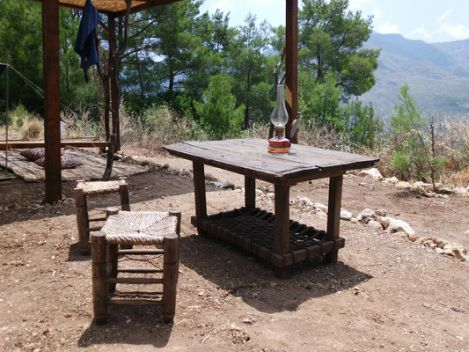 The first dinner table.