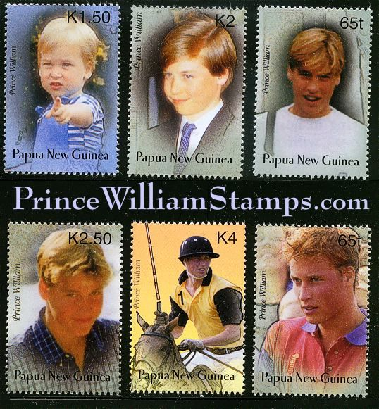 Prince William stamps