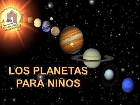 El Espacio, Los Planetas Para Niños. Solar System in Spanish for Children (Video Infantil) HD - YouTube
