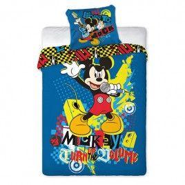 Pościel dla dzieci - Mickey - Bawełna 160x200+70x80