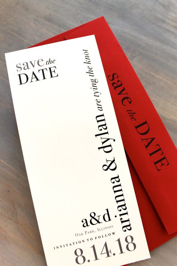 Modern style save the date. Simple typography and design. Different shape.