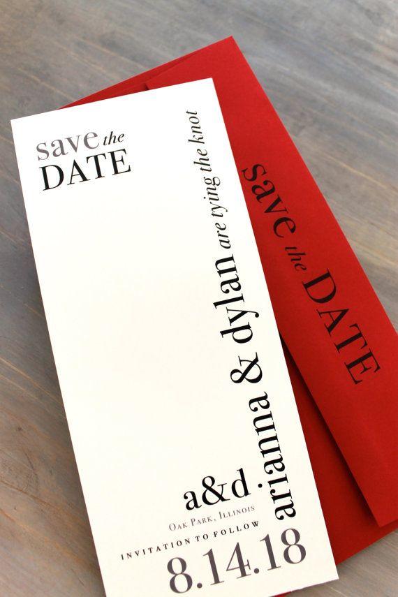 Modern Save the Dates Urban Chic Wedding Save the por BeaconLane