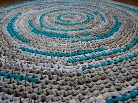 Rond Vloerkleed In Grijs Aqua Lichtblauw Leuk Om Een Kleed Te Haken