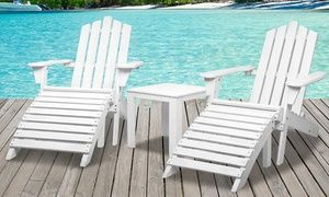 Groupon - White Adirondack Chair ($ 79), a Chair with Side Table ($99) or a Three- ($159) or Five-Piece Furniture Set ($229). Groupon deal price: $79