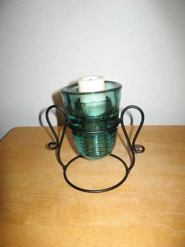 67 best upcycle it vintage glass insulators images on for Insulator candle holder