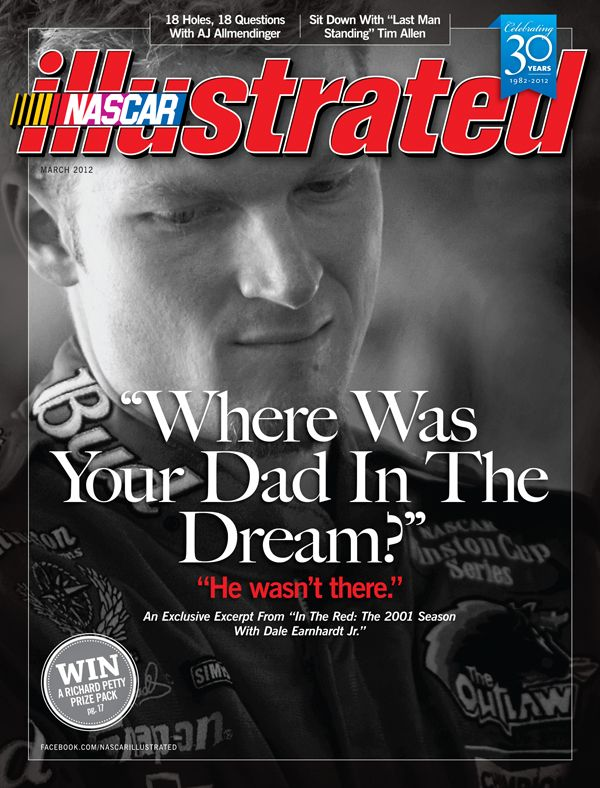 Dale Earnhardt Jr. on the cover of NASCAR Illustrated, March 2012.