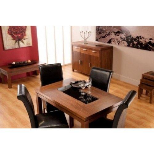 Nevada, walnut, small dining table, walnut dining table, walnut dining set, small dining set