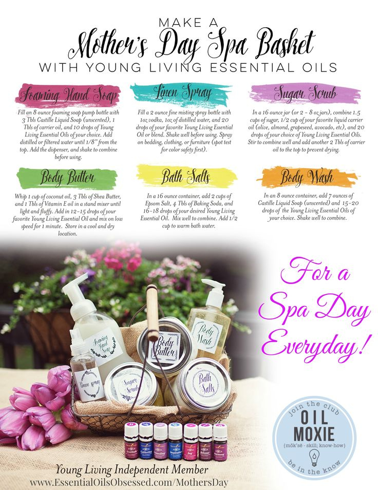 How To Make A Mother S Day Spa Basket Mothers Homemade