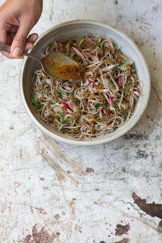 cold soba coriander bowl | quitokeeto