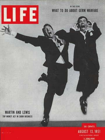 "Dean Martin and Jerry Lewis - Life Magazine, August 13, 1951 issue - Visit http://oldlifemagazines.com/the-1950s/1951/august-13-1951-life-magazine.html to purchase this issue of Life Magazine. Enter ""pinterest"" for a 12% discount at checkout. - Dean Martin and Jerry Lewis"
