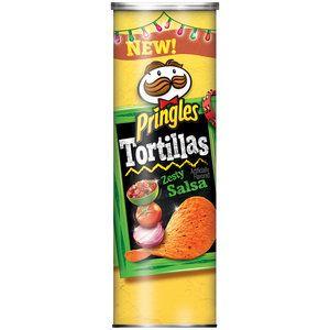 Pringles Tortillas Zesty Salsa Tortilla Crisps, 6.42 oz BEST SNACK EVER!