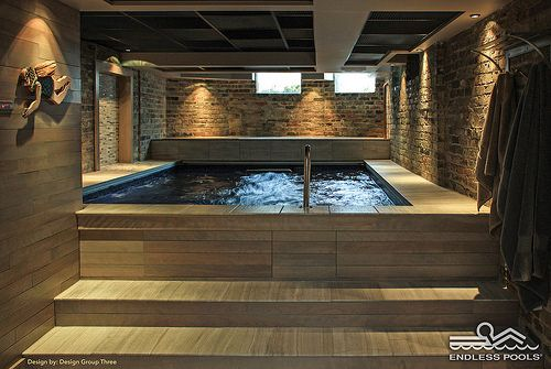 Water in the basement can be a great thing! With footprints as small as 8'x13', the Original Endless Pool® maximizes this tight basement. Even in this compact space, you can swim, exercise, relax, and play.