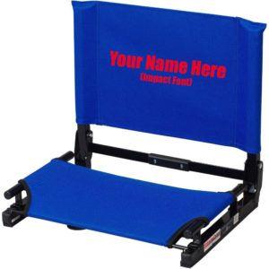Personalized Folding Stadium Chairs