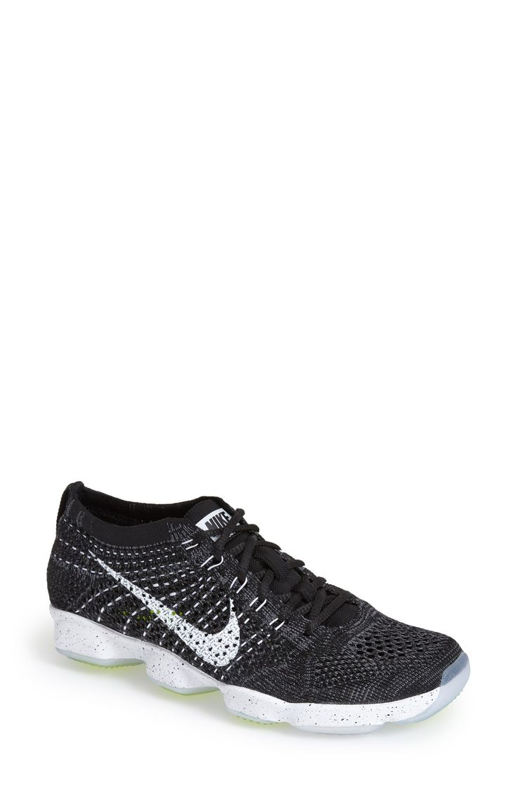 Nike 'Flyknit Zoom' Agility Training Shoe synthetic black/dark grey/white NA