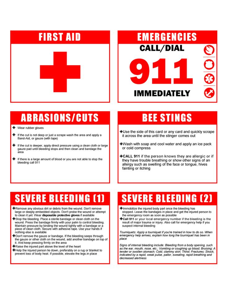 Cub Scout Webelos-Printable First Aid: Print in color on card stock, cut out individual cards, laminate, then punch hole in corner and add caribiner