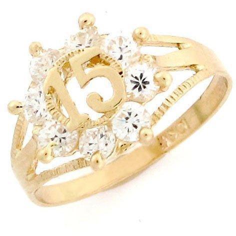 15 Birthday Anos CZ Quinceanera Ring