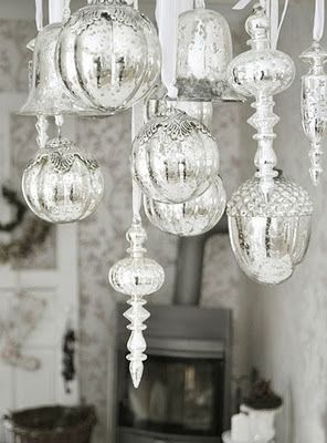 When putting up another christmas tree seems like another for Hanging ornaments from chandelier