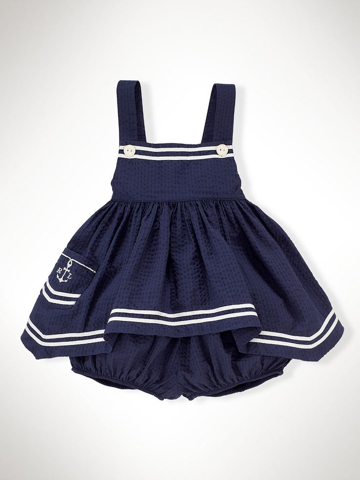 Nautical Seersucker Set - Sets   Infant Girl