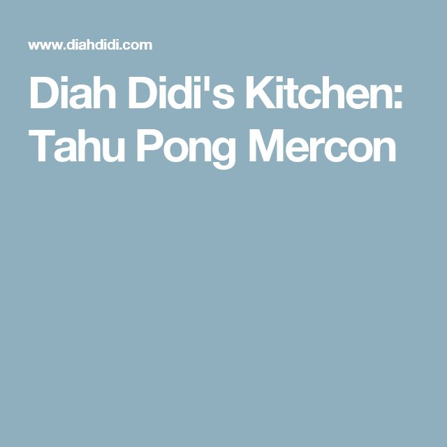 Diah Didi's Kitchen: Tahu Pong Mercon
