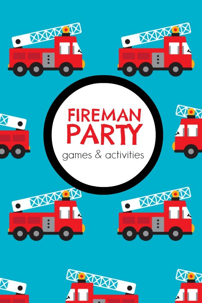 Activities for a Fireman Themed Boy Birthday Party - Fantabulosity