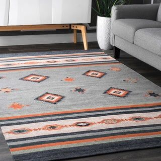 nuLOOM Multicolored Cotton Handmade Flatweave Southwestern Area Rug (5' x 8') | Overstock.com Shopping - The Best Deals on 5x8 - 6x9 Rugs