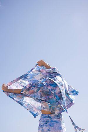 PER—TIM Kimono - Pollution print