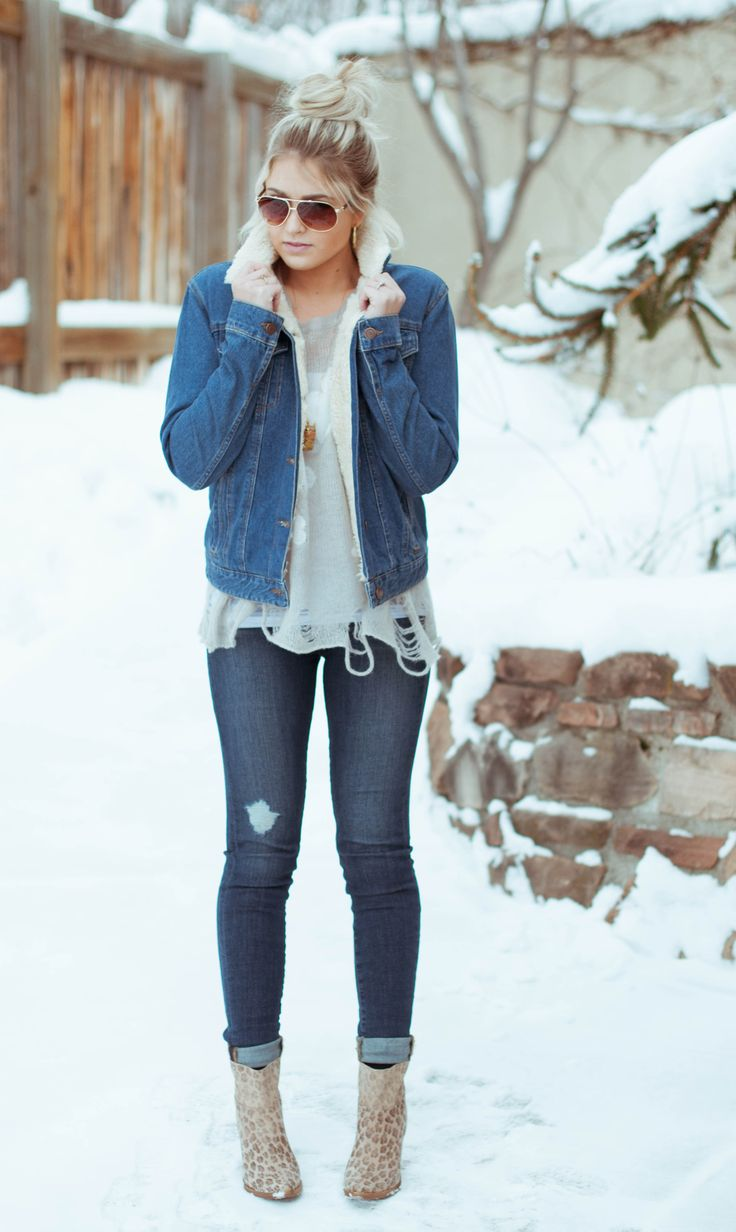 Skinny jeans, ankle booties, sunnies, and a mixture of jackets