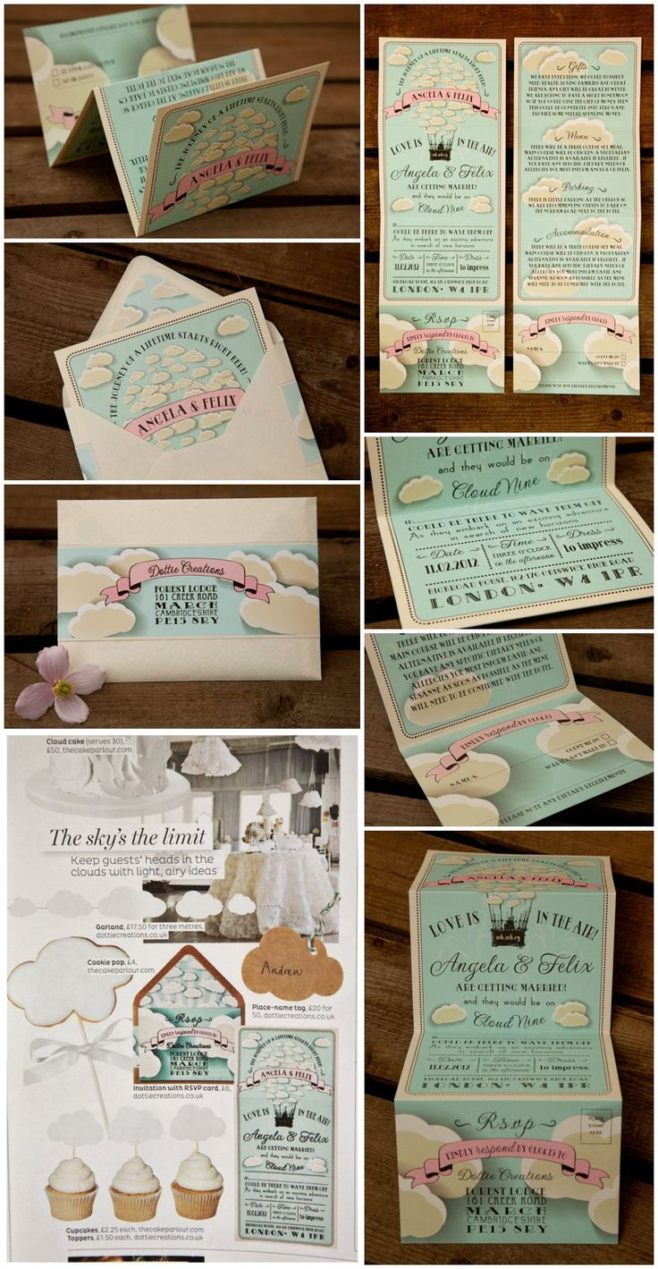 how much do invitations for wedding cost%0A Flying high with our super cool Cloud   wedding invitation
