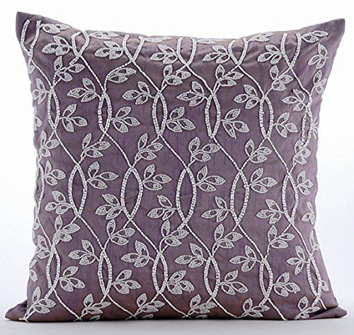 Luxury Purple Throw Pillow Covers, Beaded Leaves Garden P... https://www.amazon.com/dp/B016H8VCMS/ref=cm_sw_r_pi_dp_x_akJ.xb7V6CZJK